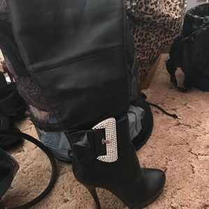 Shi High Heel Just Below The Knee Boots (S…